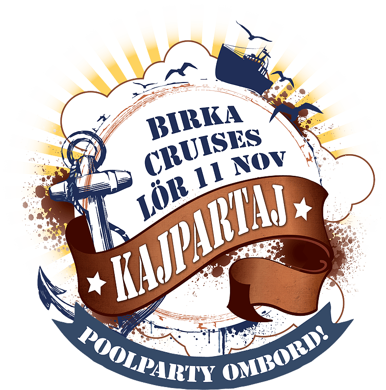 Kajpartaj Birka cruises lör 11 november 2017. Poolparty ombord!