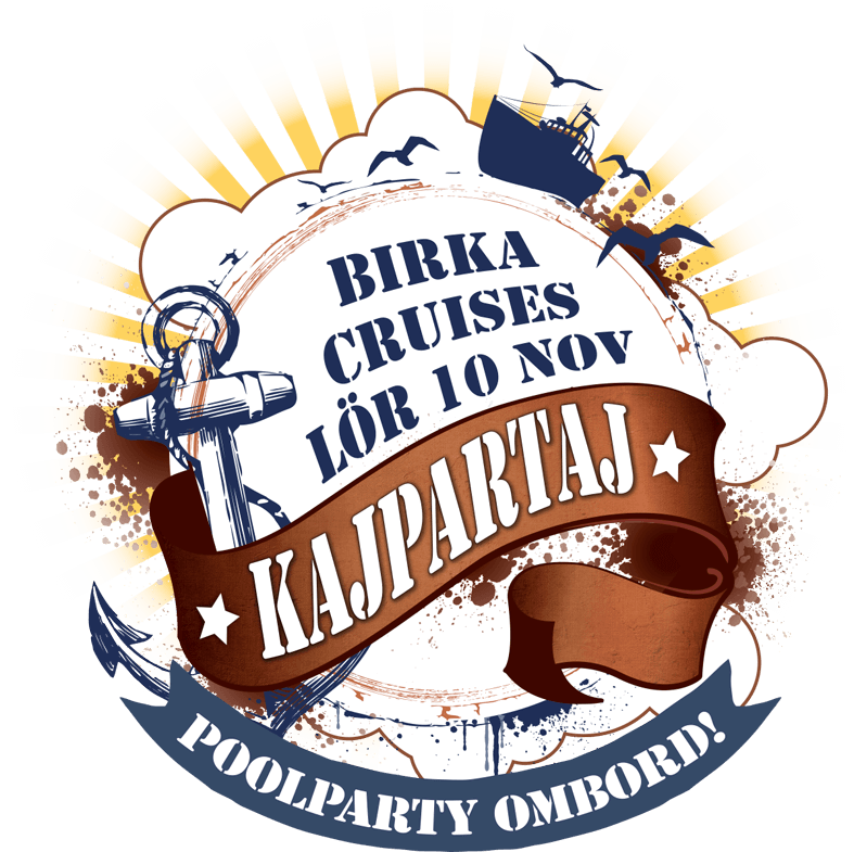 Kajpartaj Birka cruises lör 10 november 2018. Poolparty ombord!